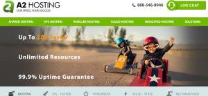 A2 Hosting Review: Homepage