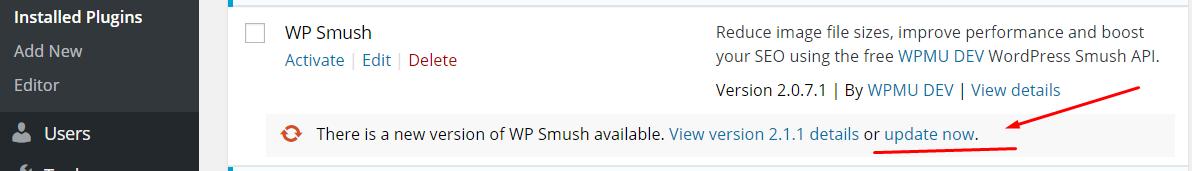 plugin update