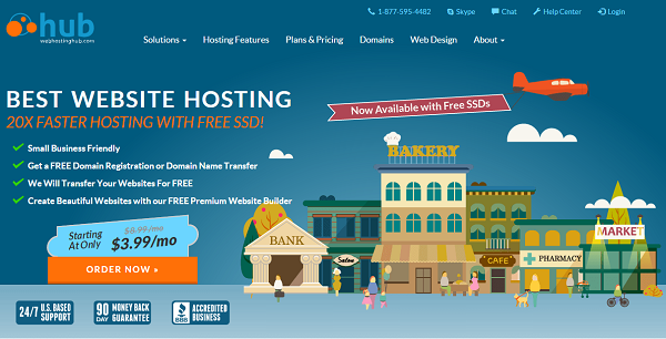 Web Hosting Hub Review: Their homepage