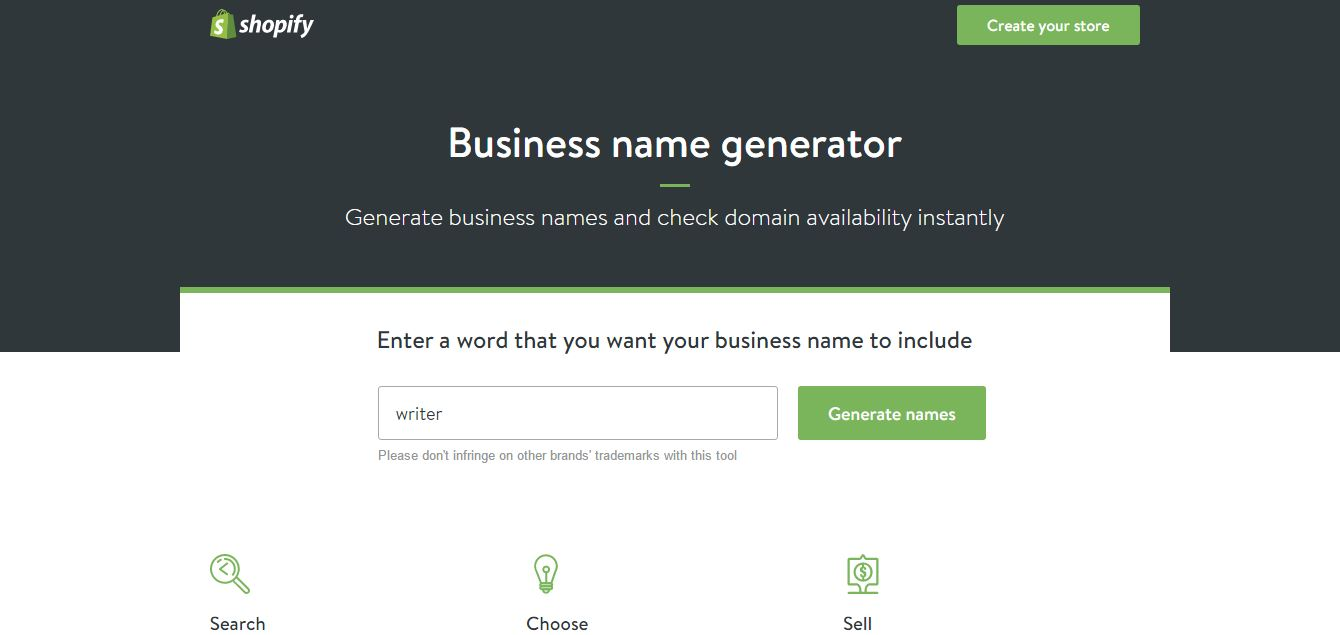 #3 Shopify Business Name Generator
