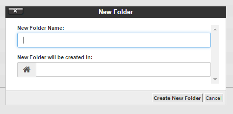 cPanel new folder name