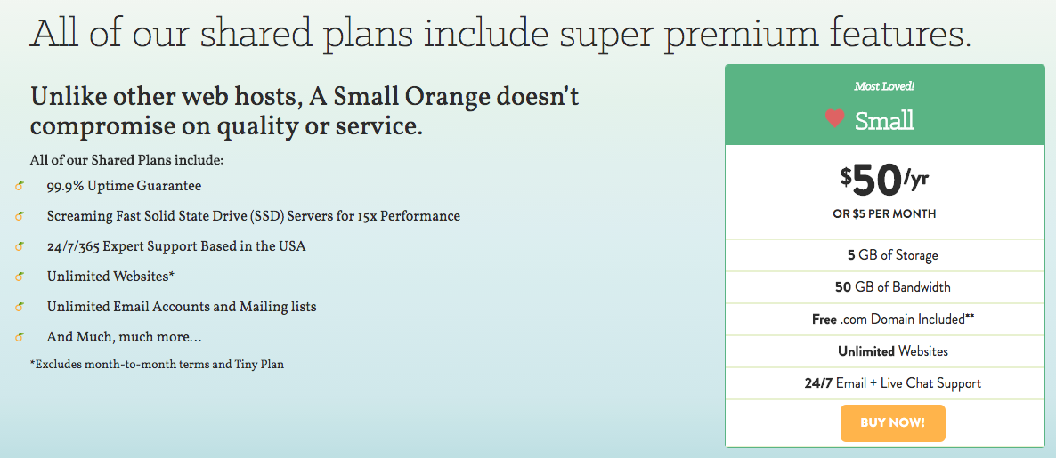 A Small Orange review: Small plan