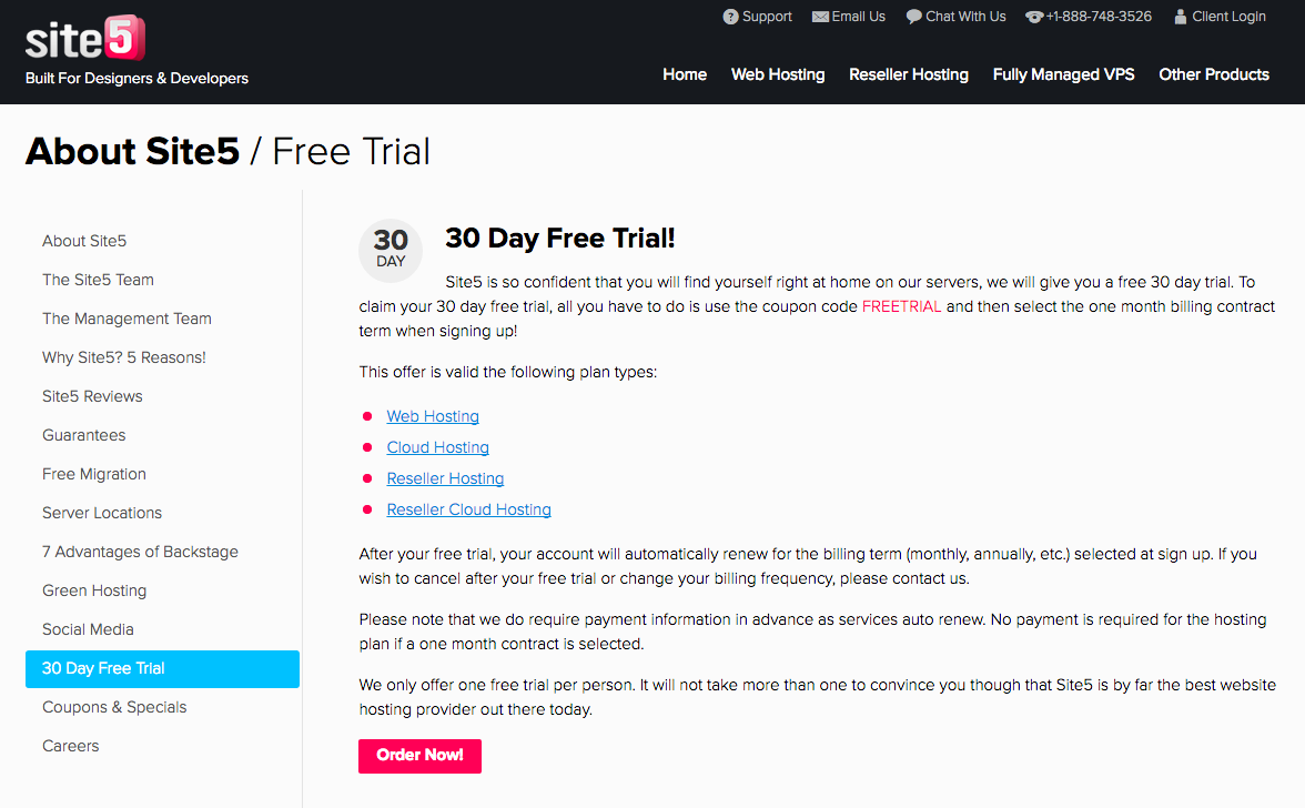 Site5 Review: Free trial? Awesome
