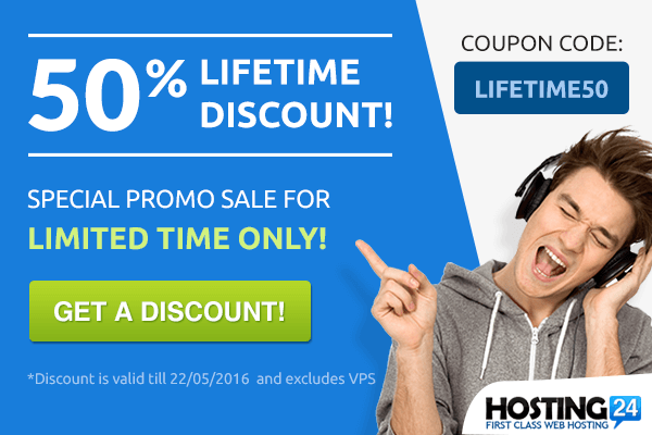 Hosting24 lifetime discount?