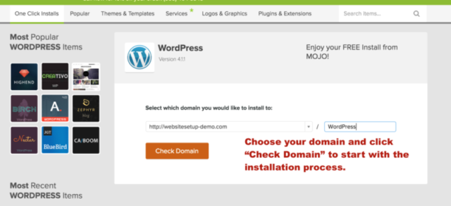installing WordPress part 2