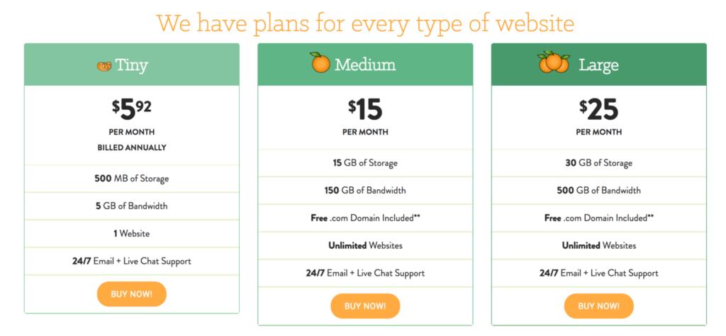 a small orange pricing #2