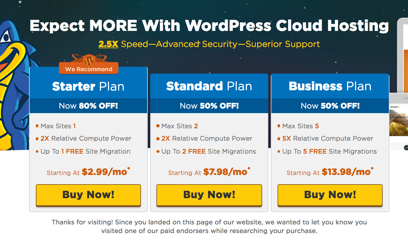 cheap hosting #1 - hostgator cloud
