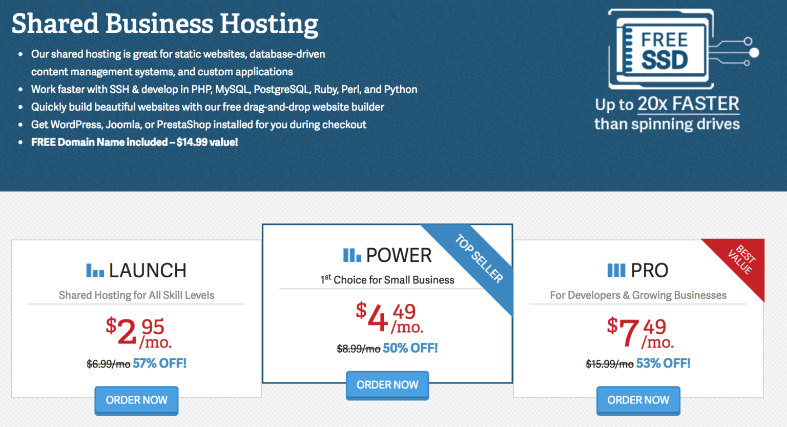 cheap hosting #3 - inmotion