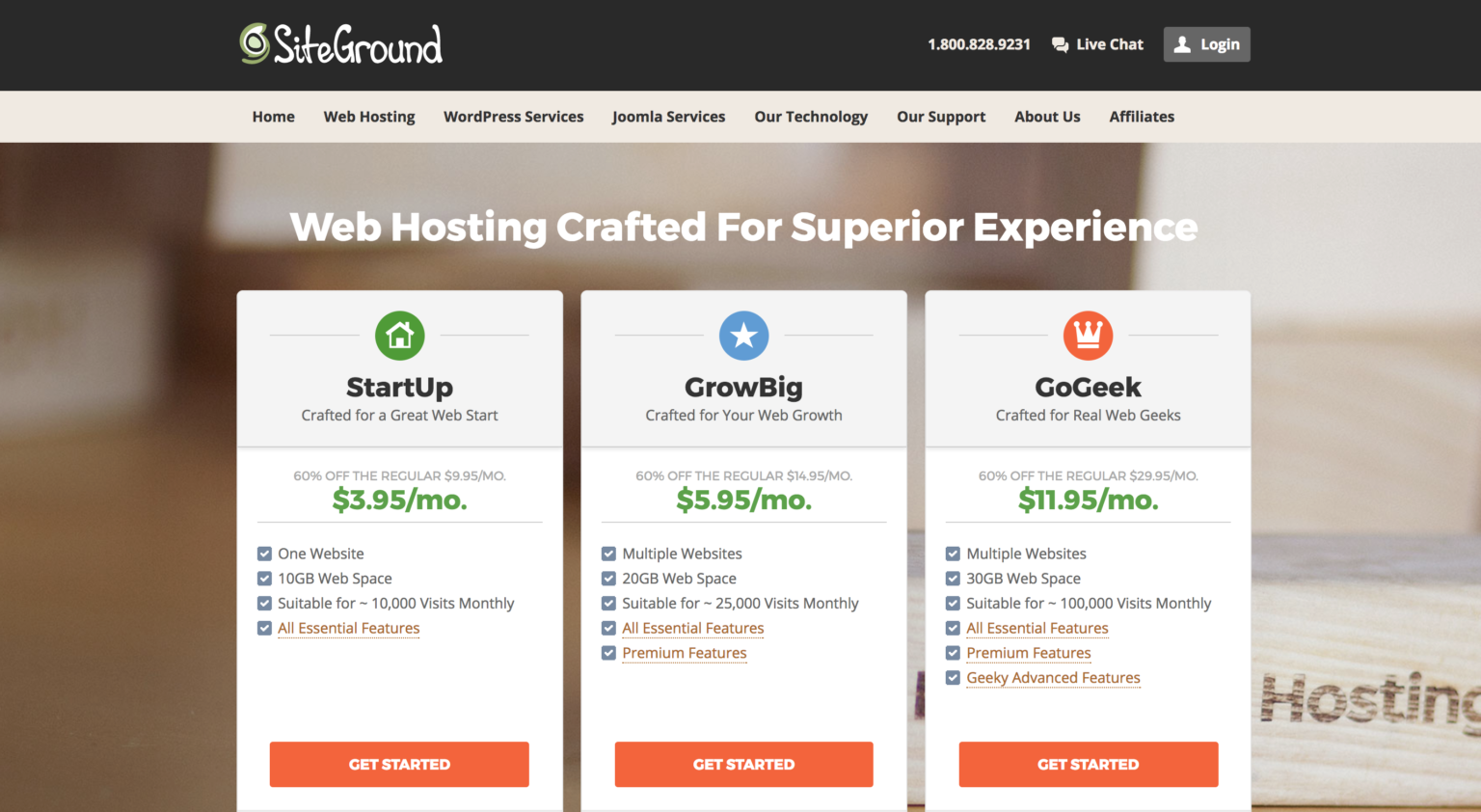 siteground shared hosting coupon entry