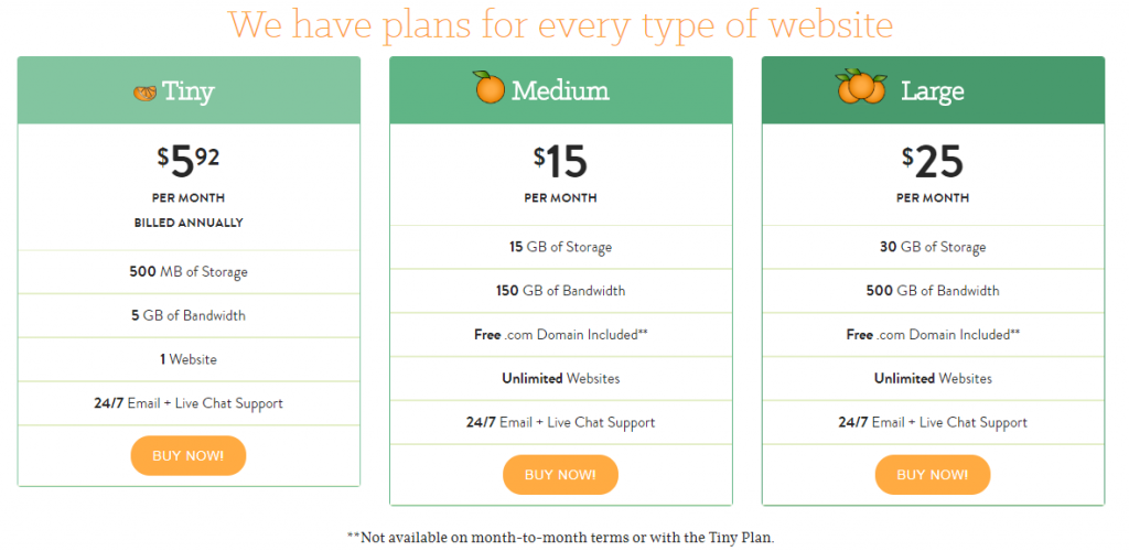 pricing and plan options