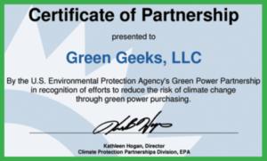 greengeeks is green hosting certified