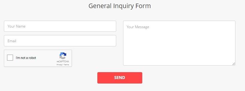 hostinger general inquiry form