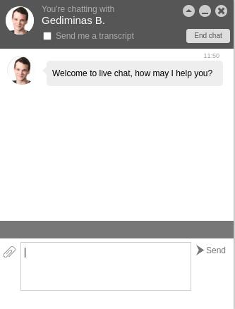 hostinger live chat session