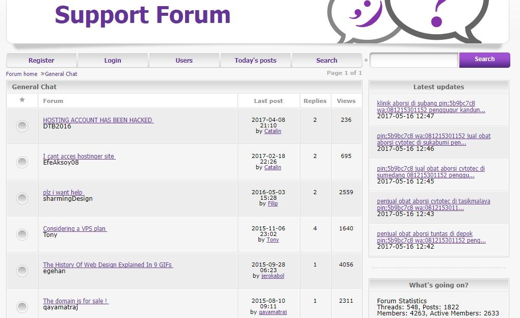 hostinger support forum