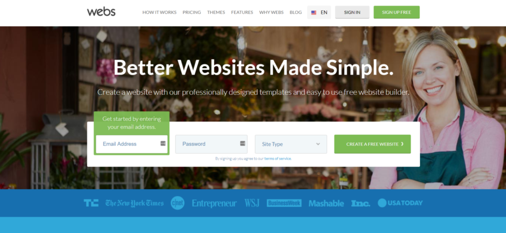 Webs website builder review