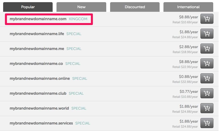 Namecheap domain pricing