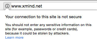no SSL certification