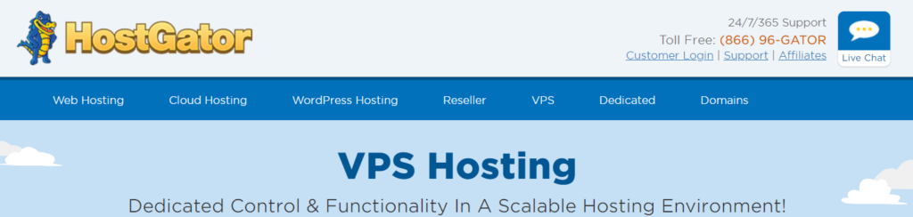 HostGator: best VPS Hosting