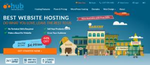 Web Hosting Hub Review: Their homepage