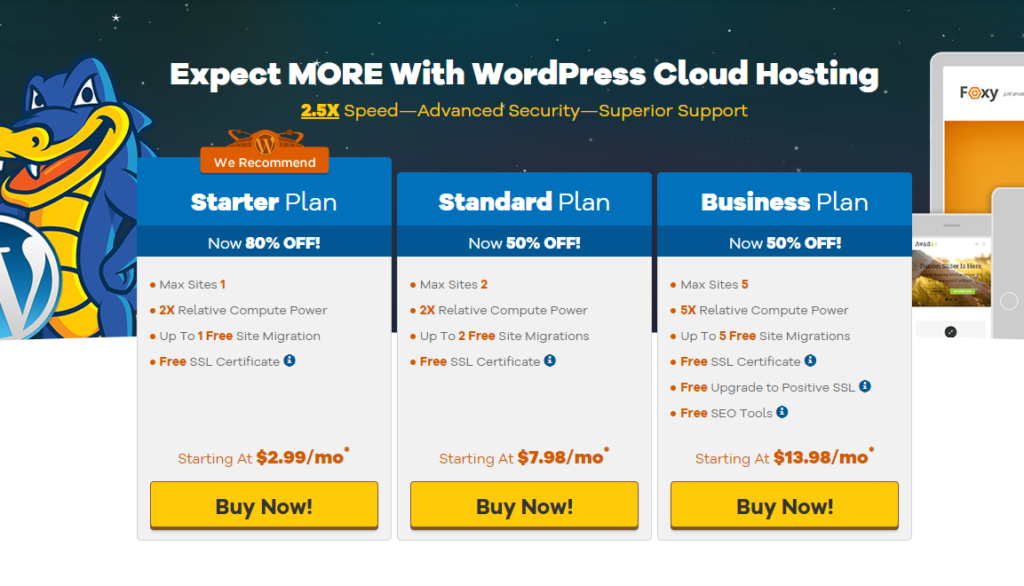 hostgator wordpress cloud review: nearly 100% uptime & quick speed