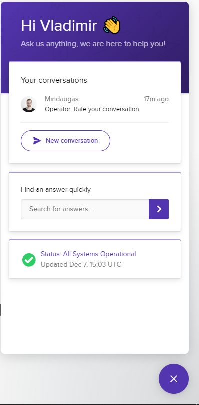 Hostinger live chat connection