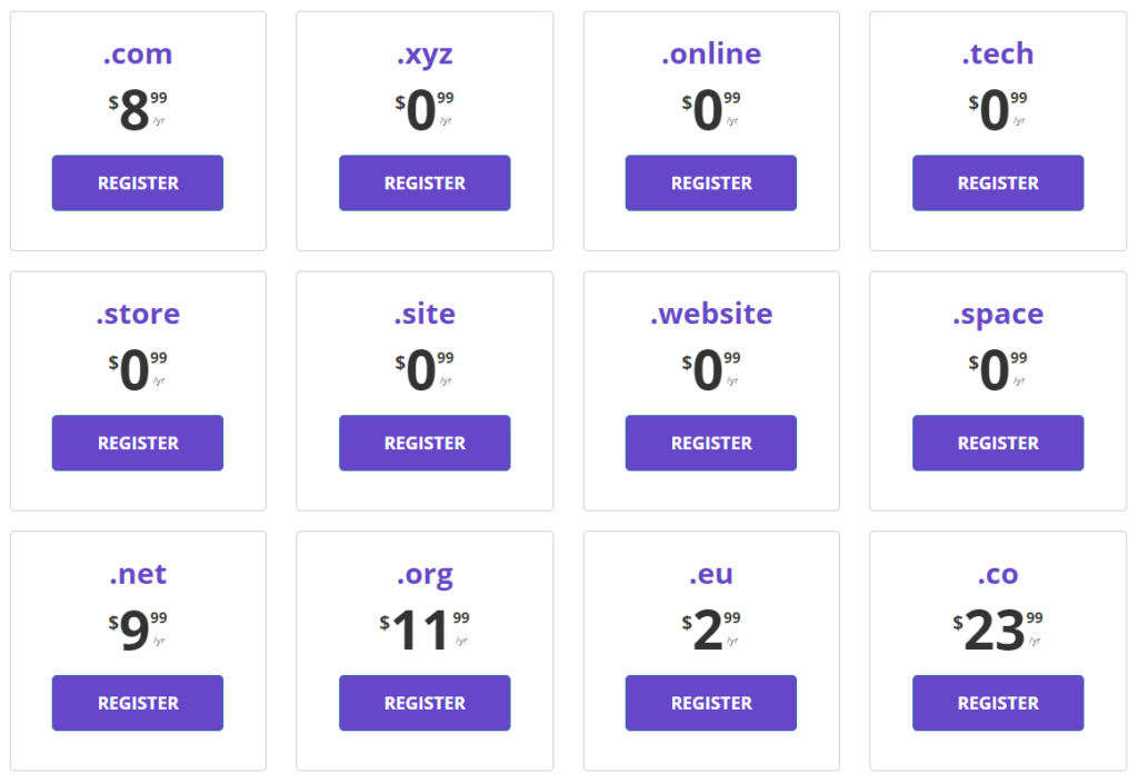 Hostinger extra domain pricing