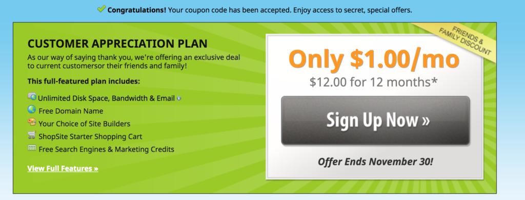 Fatcow secret offer