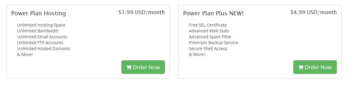 WebHostingPad pricing and plans