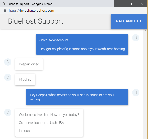 Bluehost customer support 1