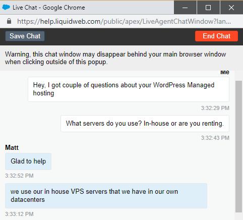 LiquidWeb customer support 1