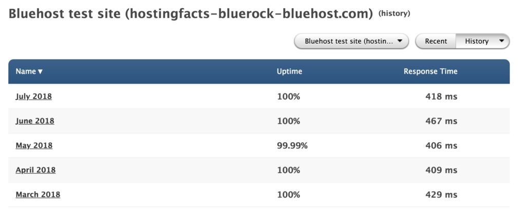 Bluehost speed performance