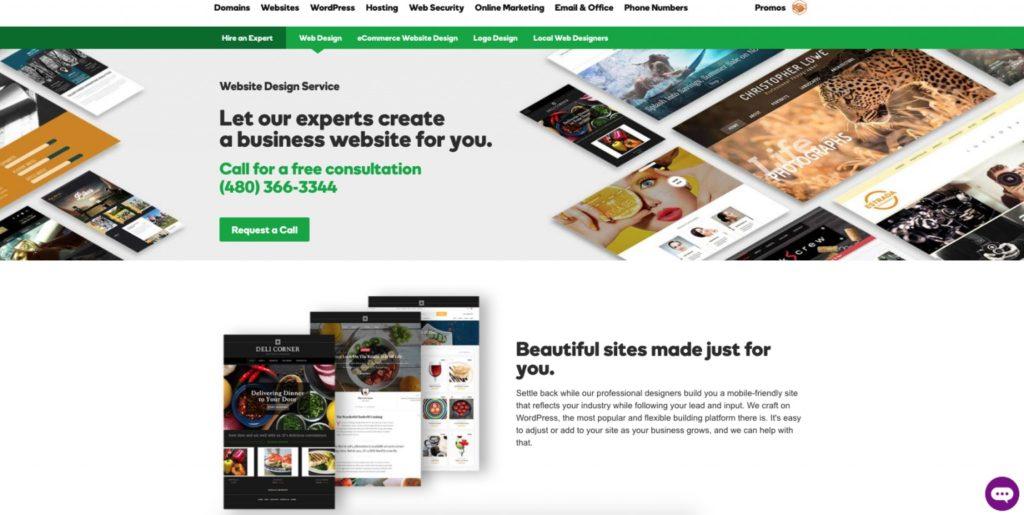GoDaddy web design