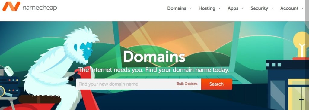 NameCheap domain-search