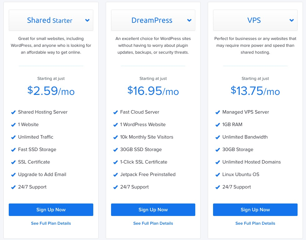 DreamHost pricing 2
