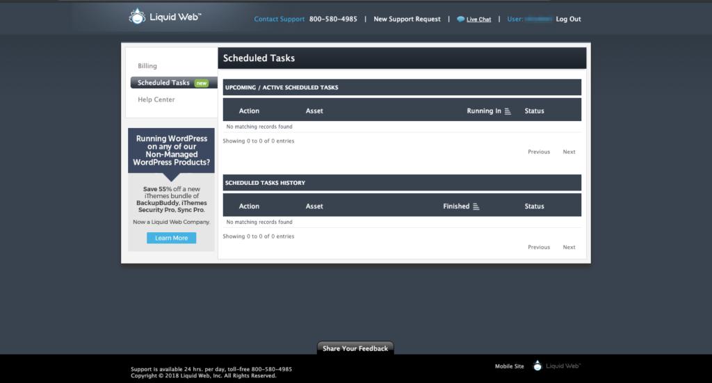 LiquidWeb Admin Panel