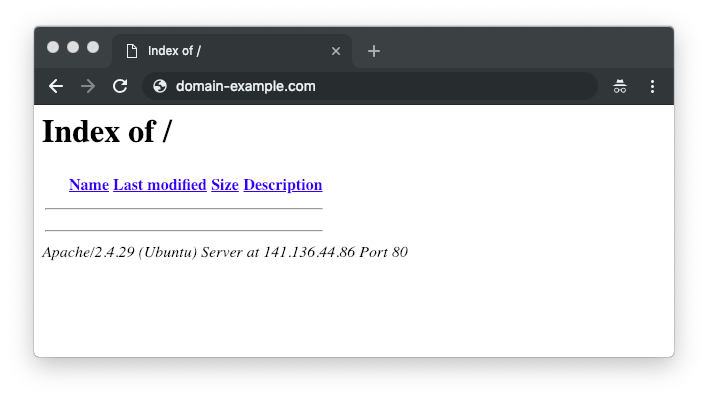 domain root directory content