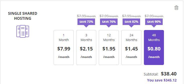 Hostinger pricing plans