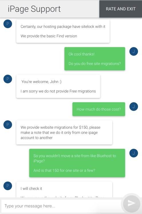 iPage Customer Support Live Chat