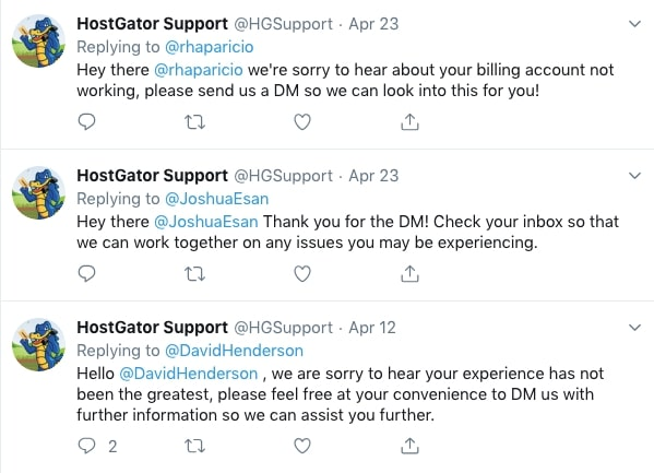 HostGator Cloud Social Media Support
