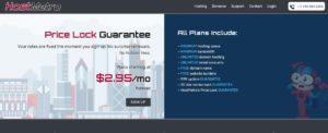 Hostmetro homepage