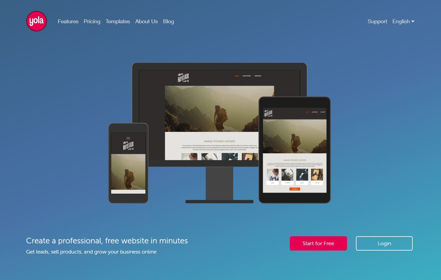 Create A Website On Yola