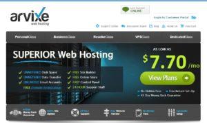 arvixe homepage