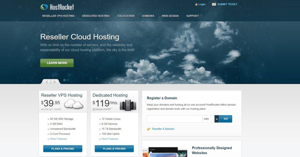 hostrocket homepage