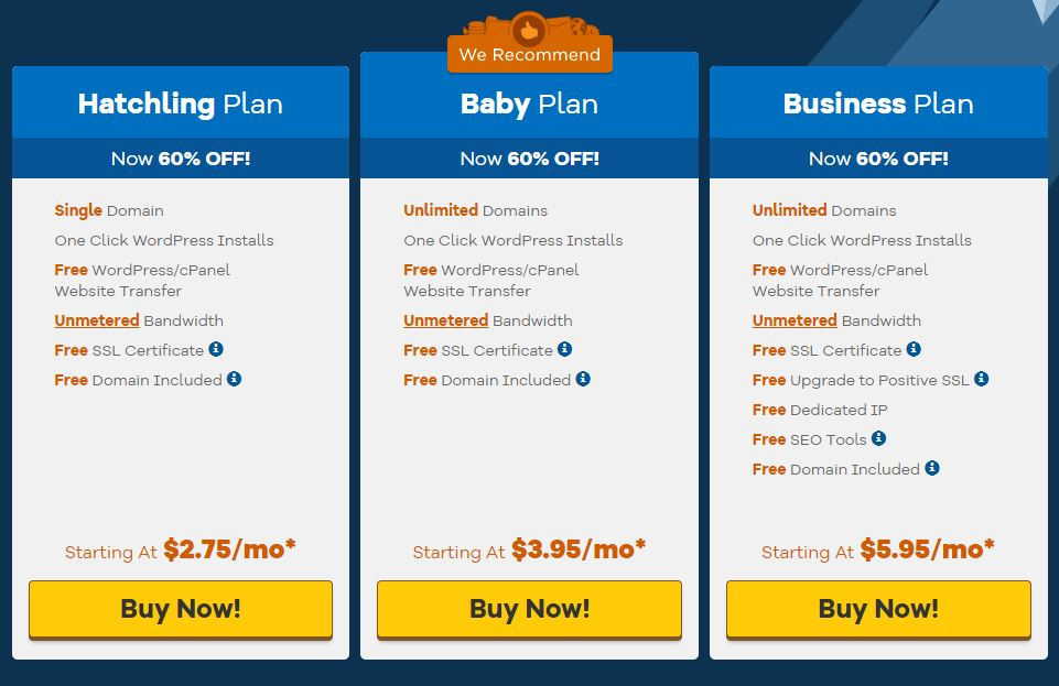 HostGator Shared Hosting Plans & Pricing