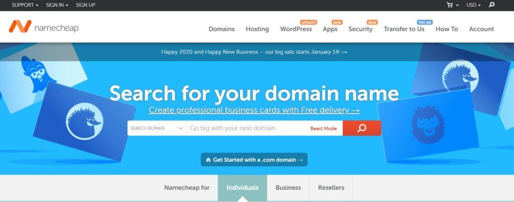 NameCheap domain-search