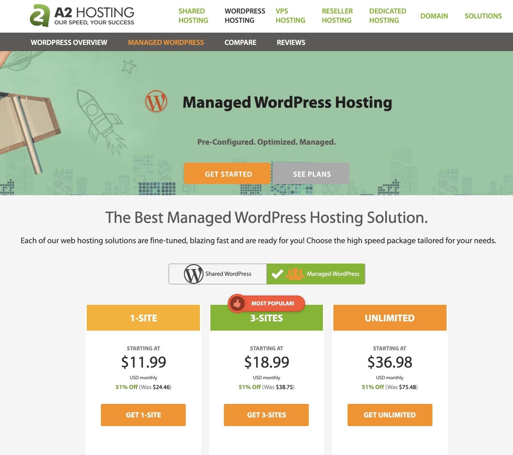 A2 Hosting WP Managed