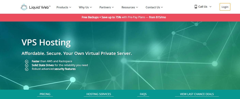 Liquid Web cloud hosting