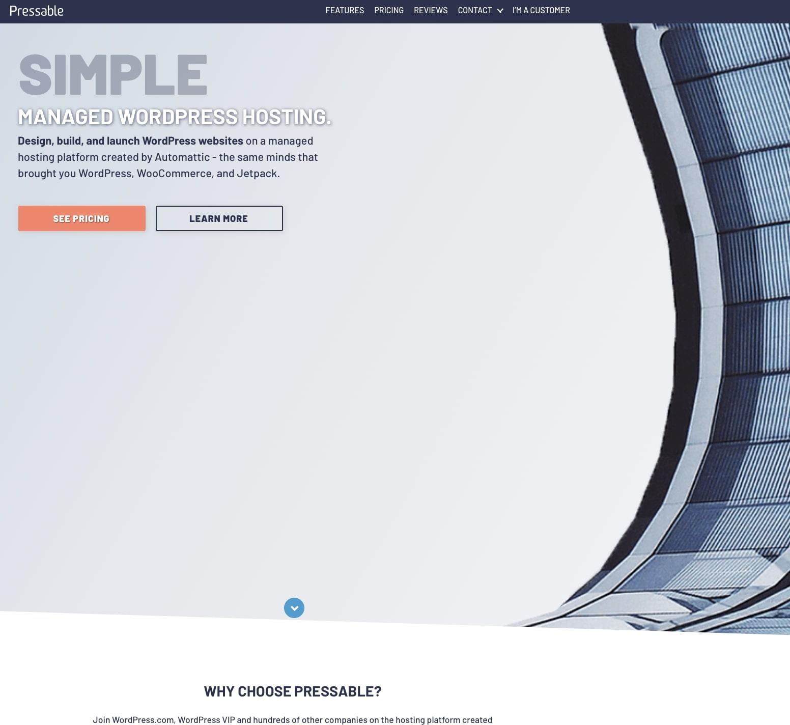 Pressable web hosting