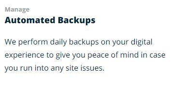 WPEngine automated backups