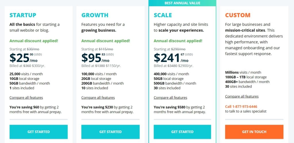 WPEngine pricing and plans